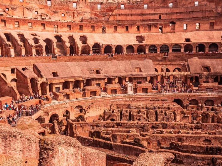 Rooms inside Colosseum
